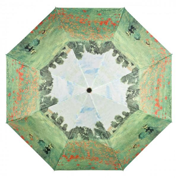 Taschenschirm Motiv Kunst Claude Monet: Mohnblumenfeld Auf-Automatik