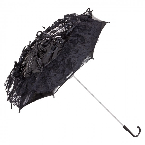 "Bridal umbrella ""Callista"", black"