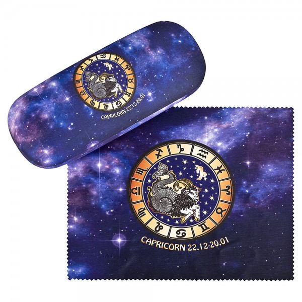 Glasses case Sign of Zodiac Capricorne