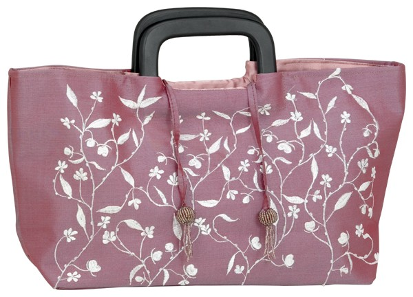 Handbag burgundy flower