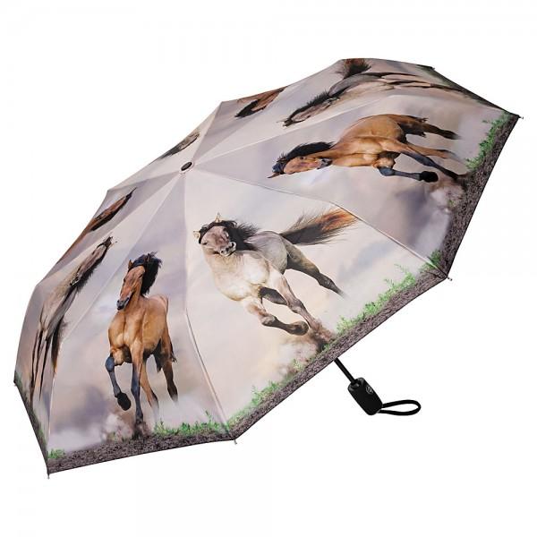 Folding pocket umbrella auto-open-close telescopic Wild Horses