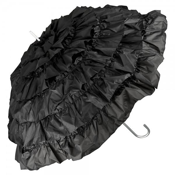 """Regenschirm Sonnenschirm Brautschirm Hochzeitsschirm """"Mia"""", schwarz"""