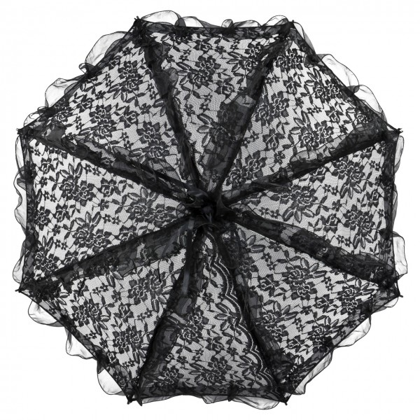 "Bridal umbrella ""Désiree"", black"