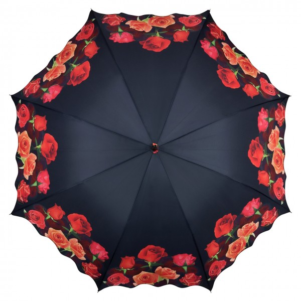 Umbrella Automatic Flower Bouquet of Roses