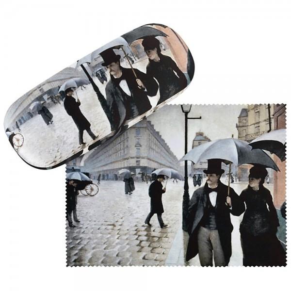 """Brillenetui Gustave Caillebotte: """"Paris im Regen"""""""
