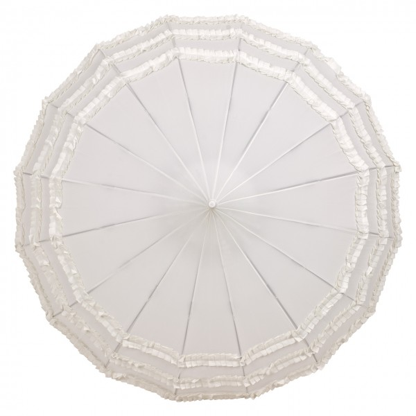 Pagoda Wedding umbrella Amelie, ecru