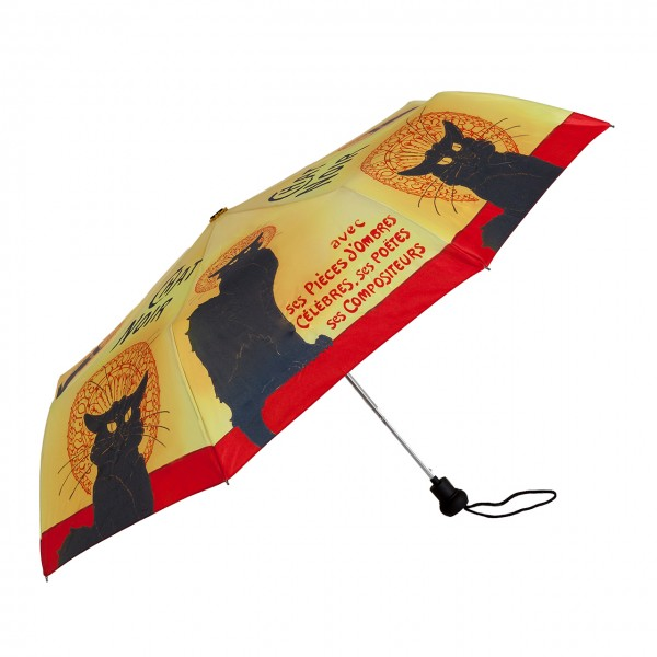 Folding Pocket Umbrella Automatic Telescopic Chat Noir
