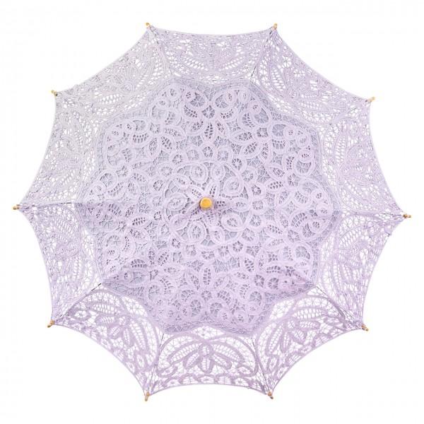 Spitzenschirm Sonnenschirm Brautschirm Hochzeitsschirm Vivienne, flieder