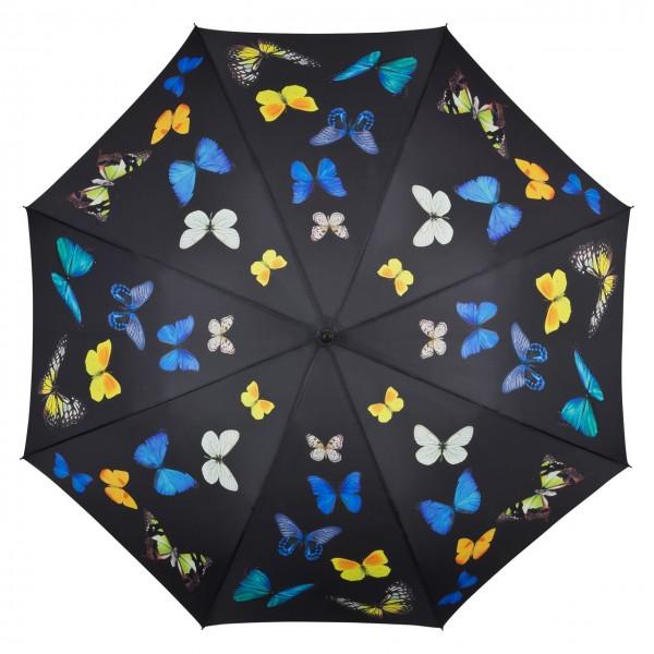 Regenschirm Automatik Motiv Butterfly Schmetterlingstanz