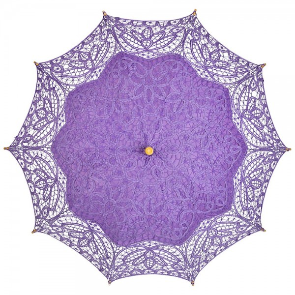 "Lace umbrella ""Vivienne"", purple"