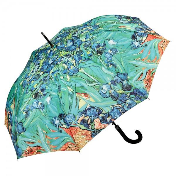 Umbrella Automatic Motif Art Flower Vincent van Gogh: Irises