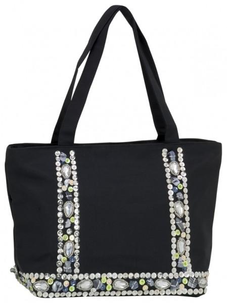 Abendhandtasche Handtasche schwarze Seide
