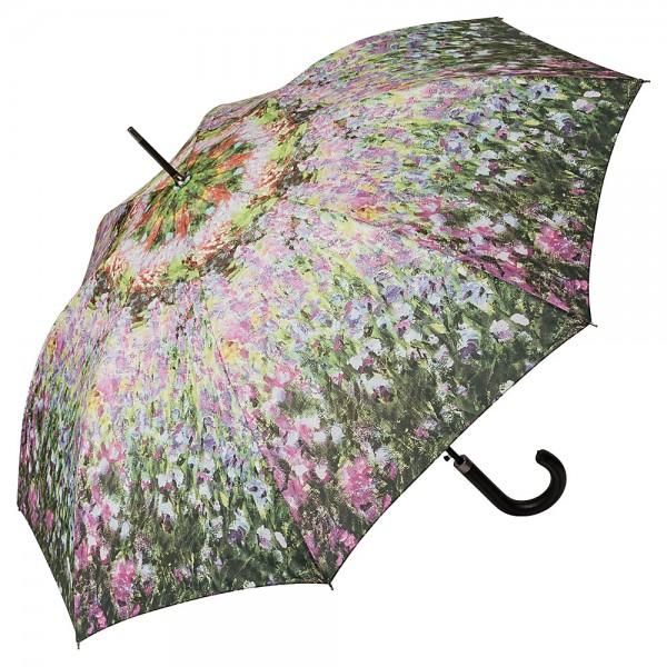 Regenschirm Automatik Kunst Motiv Claude Monet: Der Garten