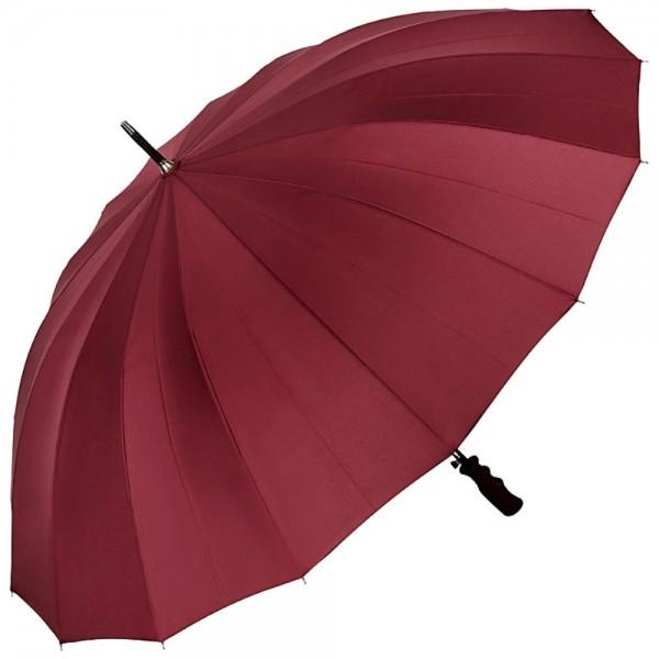 Regenschirm Auf-Automatik 2-Personen Herrenschirm XXL Cleo, bordeaux