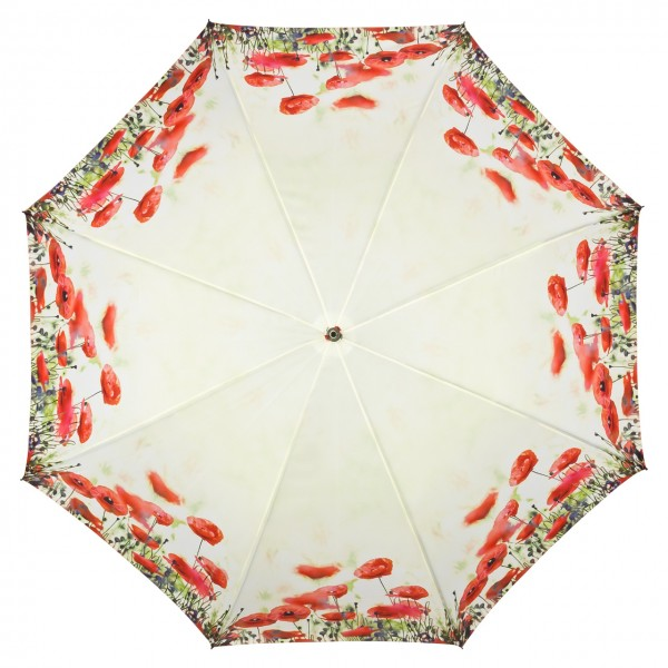 Umbrella Automatic Motif Flower Poppies
