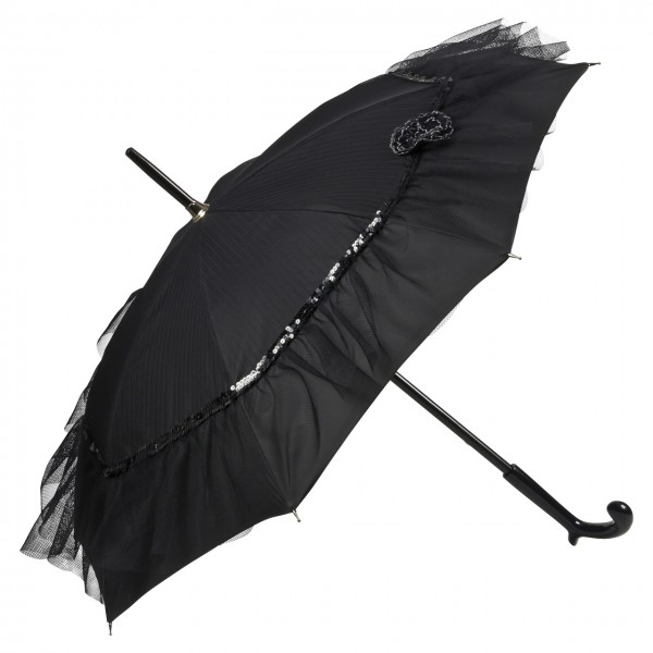 """Chantal Thomass Regenschirm """"Elodie"""", schwarz"""