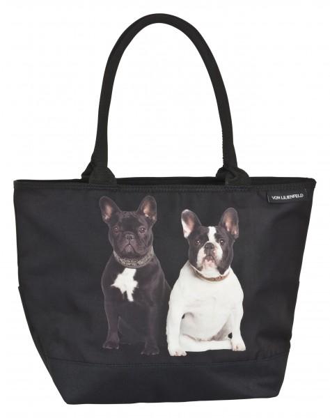 Tasche Shopper bedruckt Hunde Motiv Französische Bulldoggen
