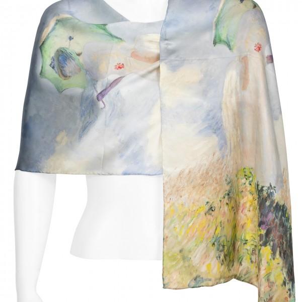 """Seidenschal Claude Monet: """"Dame mit Schirm"""""""