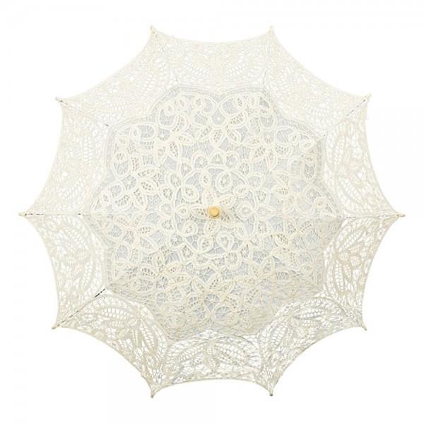 Spitzenschirm Brautschirm Hochzeitsschirm Vivienne, creme / beige