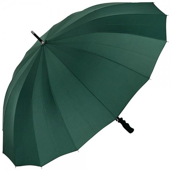 Regenschirm Auf-Automatik Paarschirm XXL Cleo, grün
