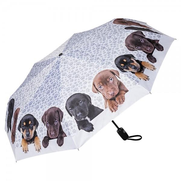 Folding pocket umbrella auto-open-close telescopic Puppies quartet