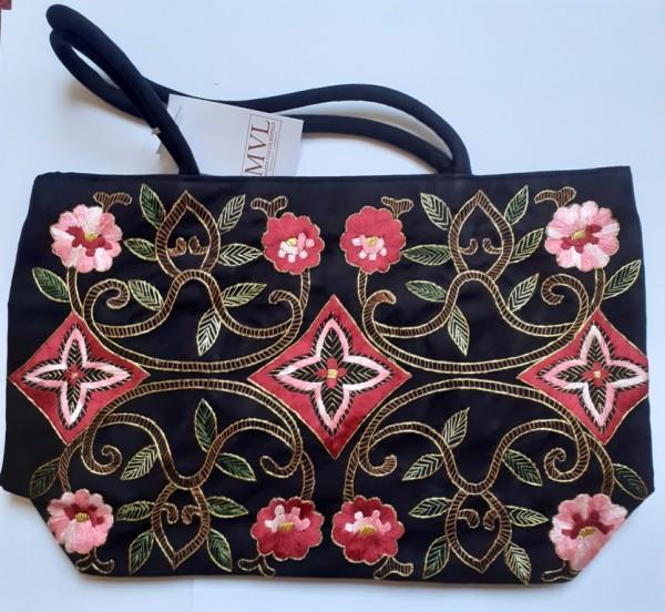 Handbag black velor