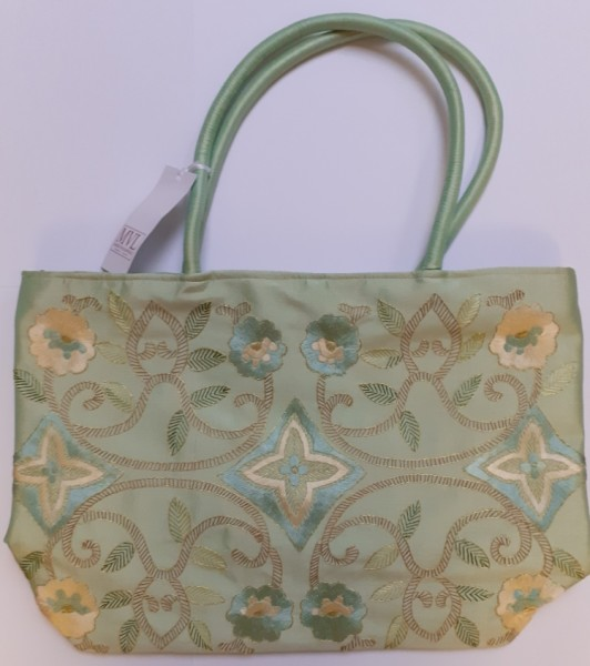 Handbag green Silk