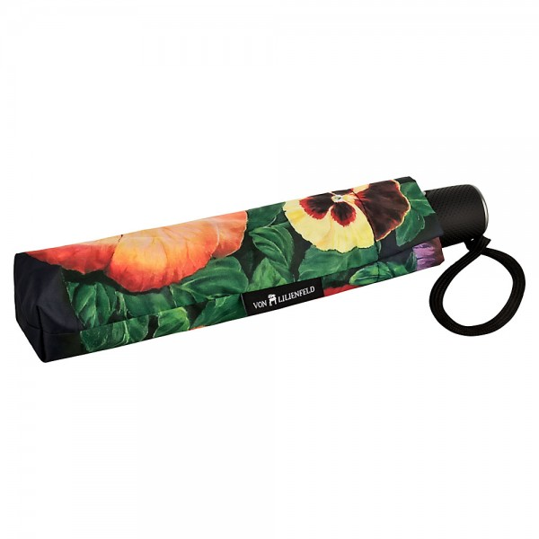 Folding Pocket Umbrella Automatic Telescopic Pansies