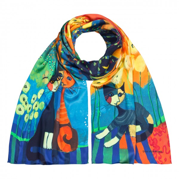 Long Scarf Cats Art Rosina Wachtmeister: Dolce Vita