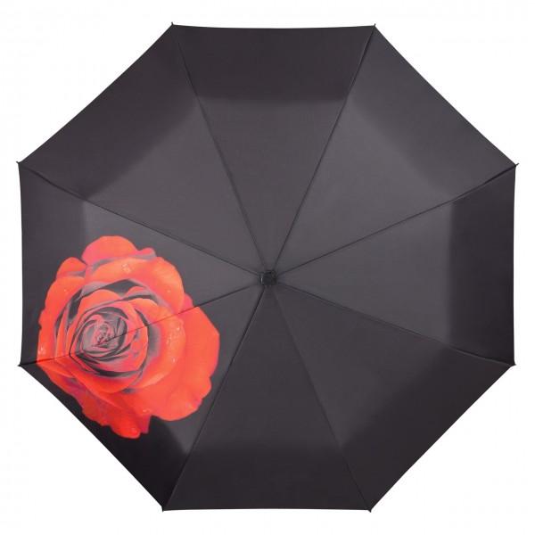 Taschenschirm  Motiv Rose Auf-Automatik