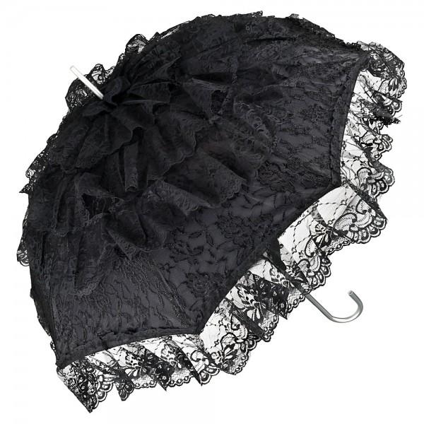 Regenschirm Sonnenschirm Brautschirm Hochzeitsschirm Melissa, schwarz