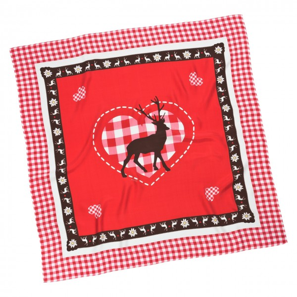 """Scarf """"Deer and Heart"""""""