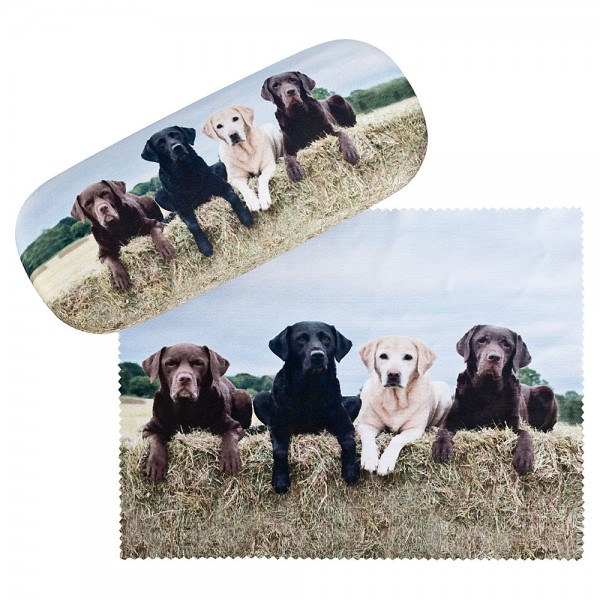 Glasses case with cleaning cloth Dogs Labrador Retriever