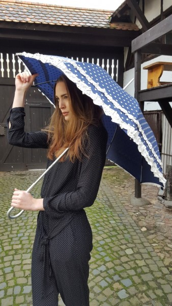 "Automatic umbrella ""Mary"", Polka dots"