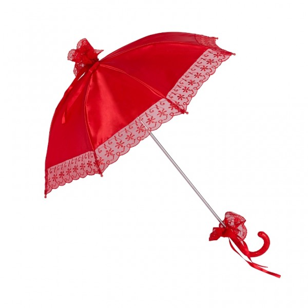 "Bridal umbrella ""Nathalie"", red"