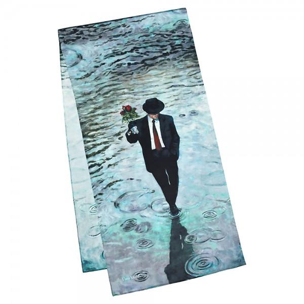Seidenschal Satin lang 172 x 42 cm Theo Michael: Romance