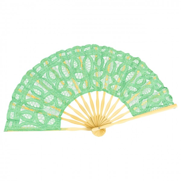 Lace fan Carmen, green