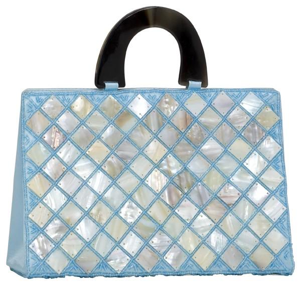 Handbag aqua Satin