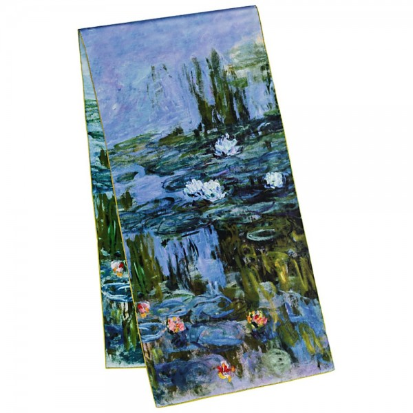 Long Silk Scarf Satin Claude Monet: Waterlilies