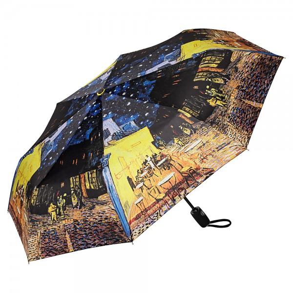 Taschenschirm Kunst Vincent van Gogh: Nachtcafé, Auf-Zu-Automatik