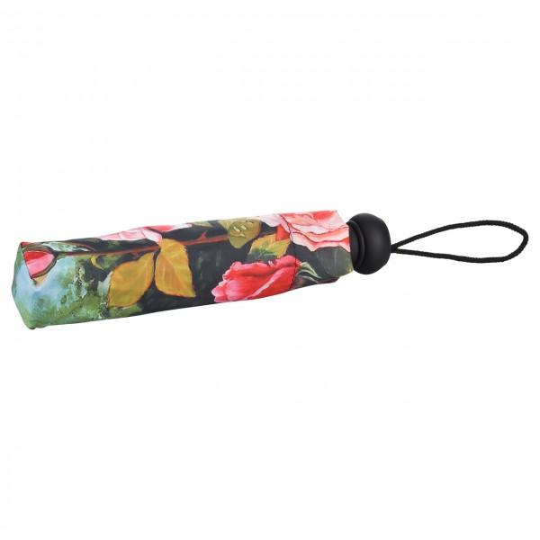 Taschenschirm  Motiv Blumen Rosengarten, Auf-Automatik