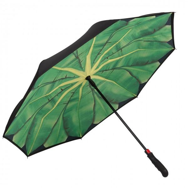 Regenschirm Inverted Bananenblat, doppelt bespannt Autofahrerschirm