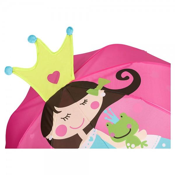 Kinderschirm Prinzessin mit Frosch (bis ca. 8 Jahre)