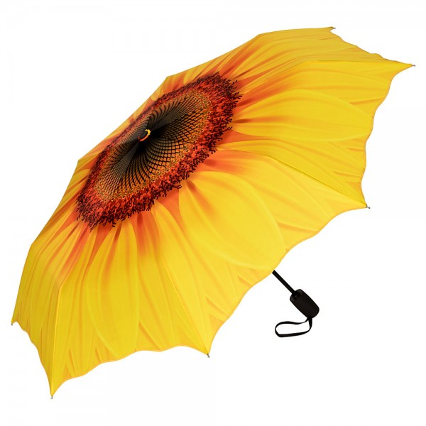 Folding pocket umbrella auto-open-close telescopic Sunflower
