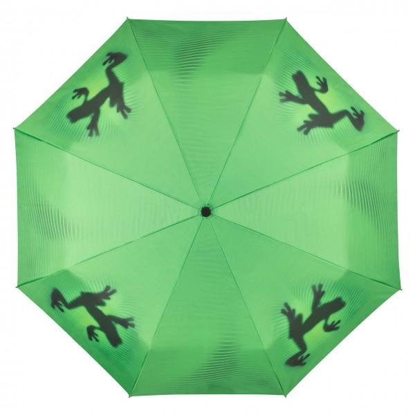 Taschenschirm Motiv Schattenfrosch