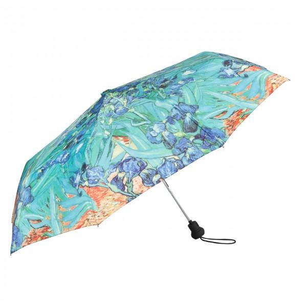 Taschenschirm Kunst Motiv Vincent van Gogh: Iris Auf-Automatik