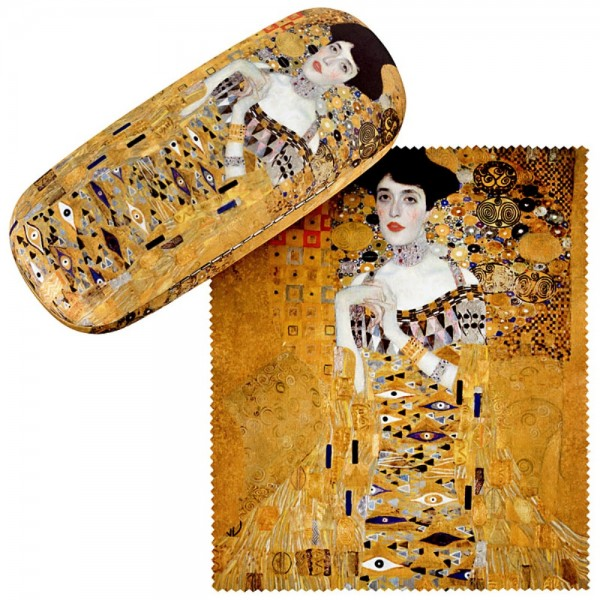 Glasses case with cleaning cloth Art Gustav Klimt: Adele