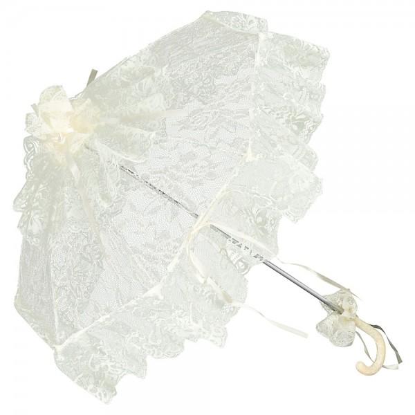 Spitzenschirm Brautschirm Hochzeitsschirm Josephine, champagner
