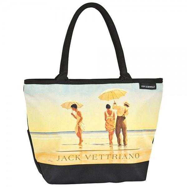 """Tasche Shopper bedruckt mit Motiv Jack Vettriano: """"Am Strand"""""""