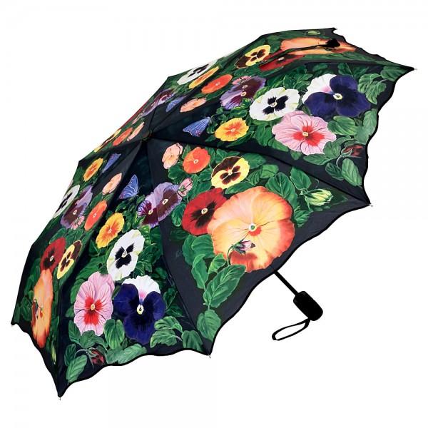 Folding Pocket Umbrella Automatic Telescopic Pansies